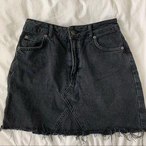 Top shop black Moto skirt